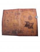 Schatzkarte mit Kompass Piratenparty-Accessoires braun 40x29cm