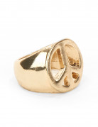Hippie Ring Peace gold