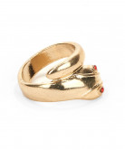 Cleopatra Ring Schlange gold-rot