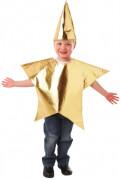 Stern-Kinderkostüm Weihnachten gold