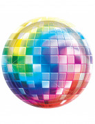 70er Disco Pappteller Discokugel Party-Deko 8 Stück bunt 26,5cm