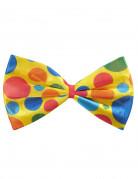 Clown Riesen Fliege mit Punkten gelb-bunt