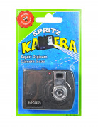 Spritzende Kamera Scherzartikel schwarz