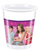 Disney™ Violetta™ Partybecher Lizenzware 8 Stück bunt 200ml