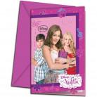 Violetta™ Einladungskarten mit Umschlägen 6 Stück Lizenzware