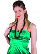 Perlenkette für Damen Kostümaccessoire schwarz