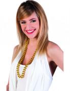 Elegante Perlen-Kette Karnevalszubehör gold
