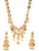 Wahrsager-Schmuckset Kette und Ohrringe Accessoires gold