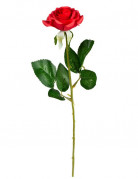 Stoff-Rose rot 48x3cm