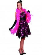 Federboa Kostüm-Accessoire rosa-silber 2m