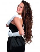 Elegante Damenhandschuhe weiss 40cm