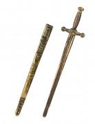Schwert mit Schwertscheide gold-schwarz