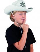 Sheriff-Hut für Kinder weiss