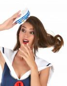 Matrosenmütze für Damen Kostüm-Accessoire blau-weiss-gold