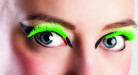 Künstliche Wimpern Fakewimpern neongrün
