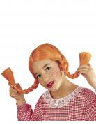 Zopfperücke für Mädchen orange