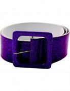 Dico Glitzer-Gürtel für Erwachsene violett