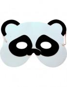 Lustige Panda-Maske für Kinder Kostüm-Accessoire weiss-schwarz