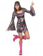 70er Jahre Tänzerin Damenkostüm Disco bunt