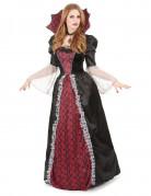 Edle Vampirdame Halloween Damenkostüm schwarz-rot