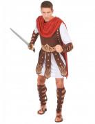 Gladiatoren-Kostüm Römischer Krieger braun-weiss-rot