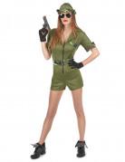 Militär Damenkostüm Soldatin olivgrün