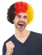 Deutschland Afro-Perücke schwarz-rot-gelb