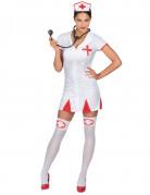 Sexy Krankenschwester Damen-Kostüm rot-weiss