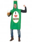 Bierflaschen-Kostüm I Love Beer grün-bunt