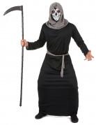Skelett-Sensenmann Halloweenkostüm schwarz-grau