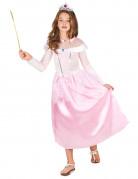 Prinzessin Kinderkostüm Märchenprinzessin rosa-weiss-silber