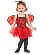 Niedliches Marienkäfer Kinder-Kostüm rot-schwarz