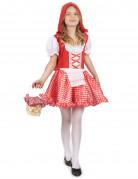Rotkäppchen-Mädchenkostüm Märchen rot-weiss