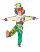 Fröhlicher Clown Kinderkostüm mit Punkten bunt