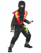 Ninja Kinderkostüm schwarz-rot-gelb
