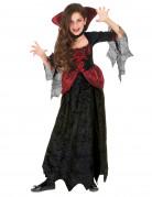 Edle Vampirin Halloween Kinderkostüm schwarz-rot