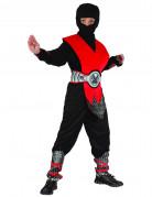 Ninja-Kinderkostüm Kämpfer-Kostüm schwarz-rot-silber