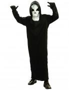 Schauriger Skelett-Geist Halloween-Kinderkostüm schwarz
