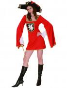 Musketier-Damenkostüm Historisches Kostüm rot-schwarz-gold