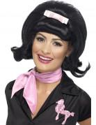 Damen-Perücke 50er-Kostümaccessoire pagenkopf schwarz