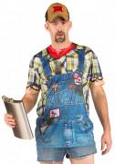 T-Shirt Latzhose für Erwachsene