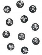 Piraten-Konfetti 150 Stück schwarz 18g