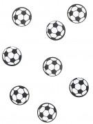 Fussball Tisch-Konfetti 150 stück weiss-schwarz 18g