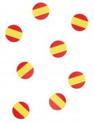 Tisch-Konfetti Spanien Fanartikel Fussball 150 stück rot-gelb 18g