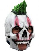 Skelett-Punker Halloween-Maske weiss-grün