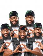 Haartuch Jamaika Kostümaccessoire Rasta bunt