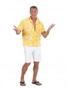 Hawaii Hemd gelb-weiss