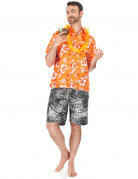 Hawaii Hemd XL orange-weiss