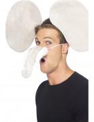 Elefant kostümzubehör 2-teilig grau