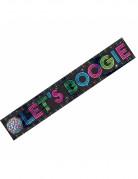 70er Disco Banner Party-Deko bunt 7,6m